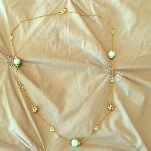 J. Crew turquoise crystal ball necklace